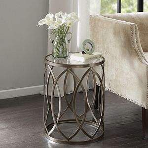 Madison Park Coen Eyelet Cutout End Table
