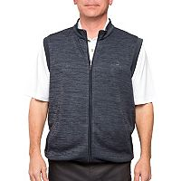 Men's Pebble Beach Classic-Fit Full-Zip Performance Golf Sweater Vest