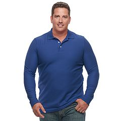Big & Tall Croft & Barrow® Classic-Fit Easy-Care Pique Polo