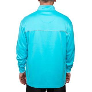 Men's Pebble Beach Classic-Fit Brushed Interlock Quarter-Zip Performance Golf Pullover Sweater