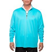 Men's Pebble Beach Classic-Fit Brushed Interlock Quarter-Zip Performance Golf Pullover Sweater