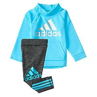 Baby Girl adidas Graphic Mockneck Pullover & Leggings Set