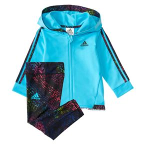 Baby Girl adidas Space-Dye Hoodie & Leggings Set