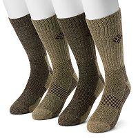 Extended Size Columbia Moisture-Control Performance Crew Socks