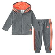 Baby Girl adidas Hooded Lurex Jacket & Pants Set