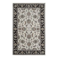 Rugs America New Dynasty Framed Floral Wool Rug
