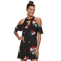 Juniors' Candie's® Flutter Cold-Shoulder Dress