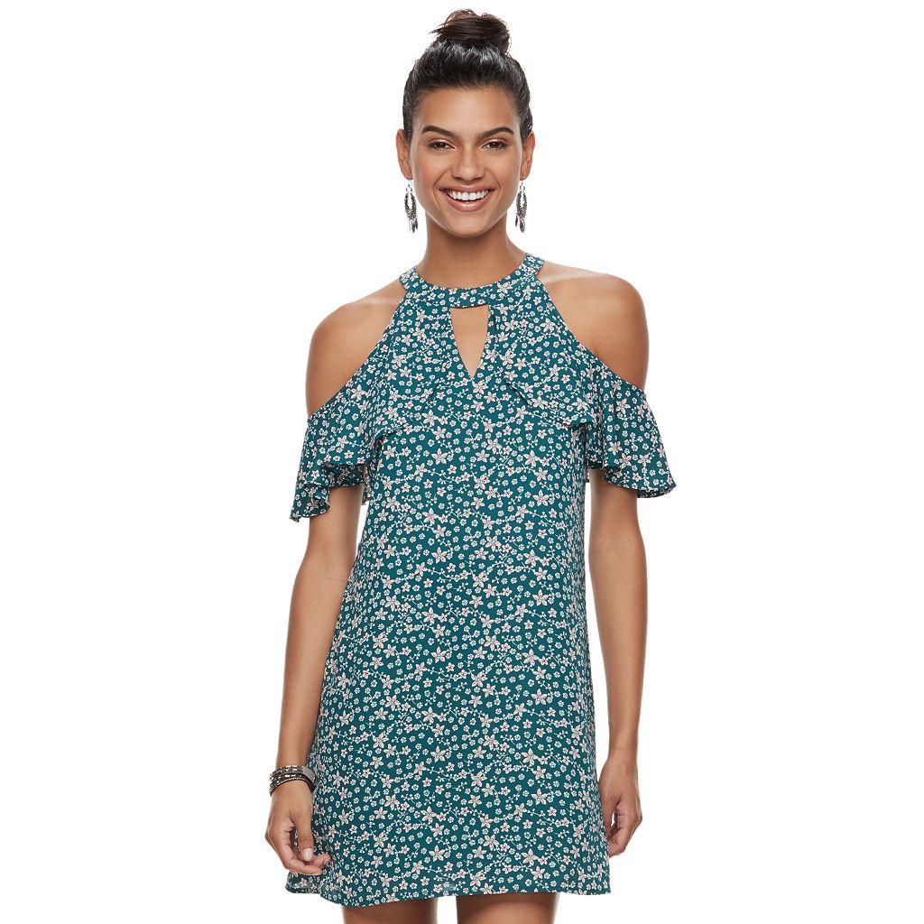 Juniors' Candie's® Flutter Cold-Shoulder Dress