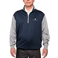 Men's Pebble Beach Classic-Fit Colorblock Quarter-Zip Performance Golf Pullover Sweater
