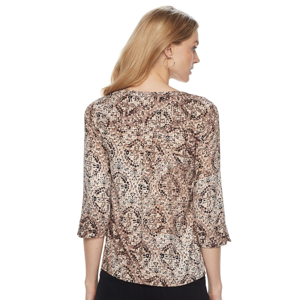 Women's Dana Buchman Zip-Front Blouse
