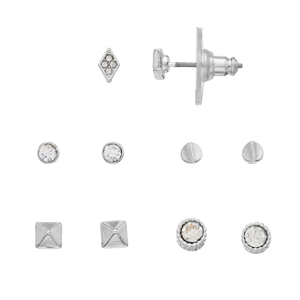 LC Lauren Conrad Nickel Free Geometric Stud Earring Set