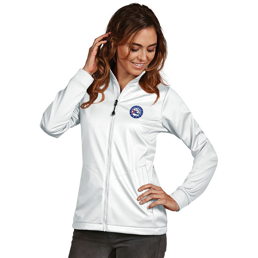 Women's Antigua Philadelphia 76ers Golf Jacket