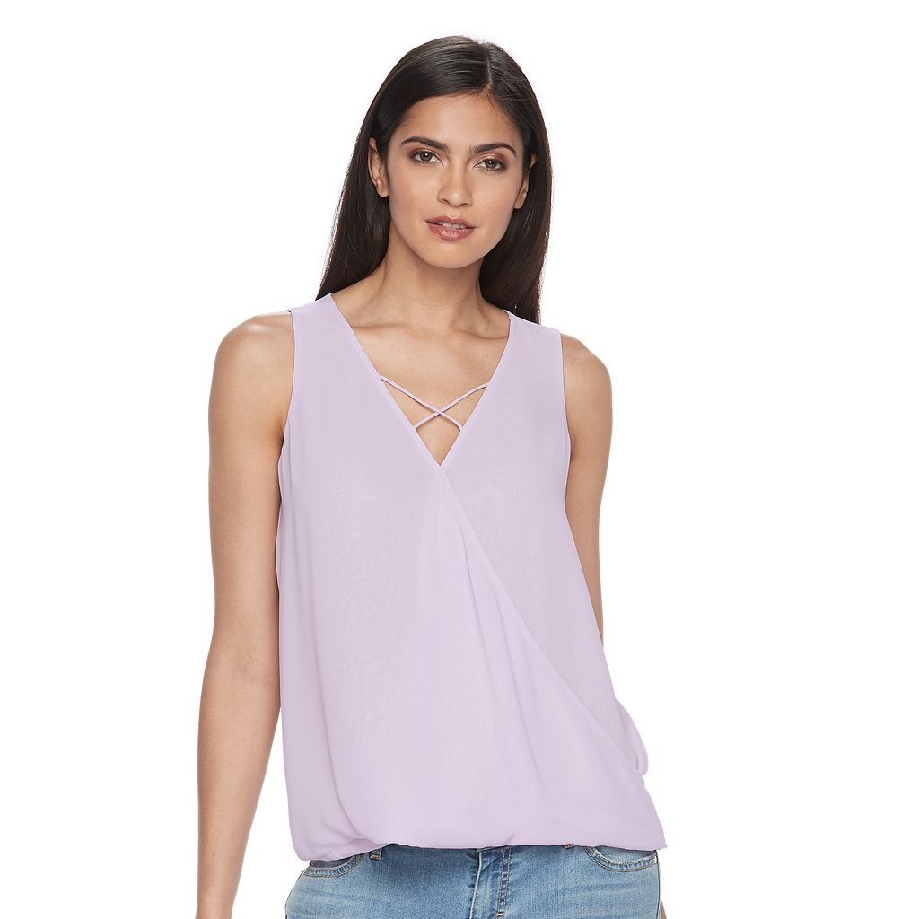 Women's Jennifer Lopez Crisscross Faux-Wrap Tank