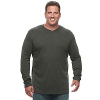 Big & Tall Croft & Barrow® Classic-Fit Easy-Care V-Neck Tee
