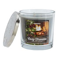 SONOMA Goods for Life™ Cozy Fireside 14-oz. Christmas Candle Jar