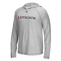 Men's adidas Miami Hurricanes Mark My Words Hooded Tee