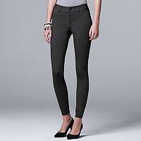 Women's Simply Vera Vera Wang Skinny Ponte Pants