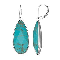 Dana Buchman Simulated Abalone Teardrop Earrings