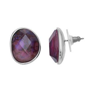 Dana Buchman Asymmetrical Simulated Abalone Stud Earrings