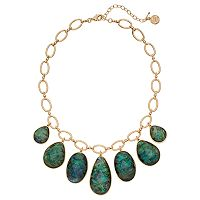 Dana Buchman Simulated Abalone Graduated Teardrop Necklace