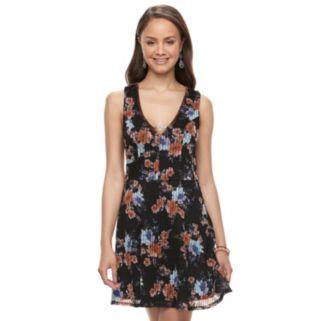 Juniors' Trixxi Knit Skater Dress