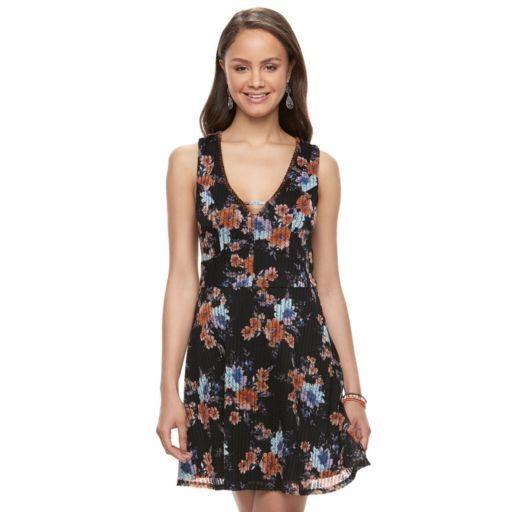 Juniors' Trixxi Knit Skater Dress