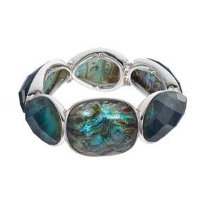 Dana Buchman Simulated Abalone Stretch Bracelet