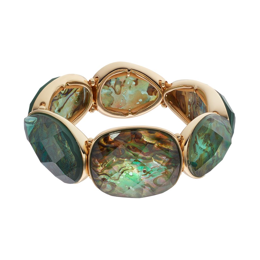 Dana Buchman Simulated Abalone Stretch Bracelet