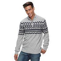 Men's Urban Pipeline® Geo-Pattern Quarter-Zip Sweater