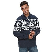 Men's Urban Pipeline® Geo-Pattern Quarter-Zip Sweater