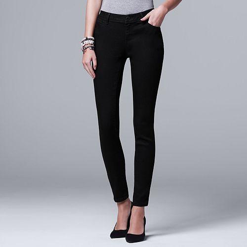 Women's Simply Vera Vera Wang Everyday Luxury Skinny Jeans