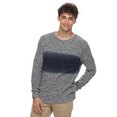 Men's Urban Pipeline Dye Effect Pull-Over Sweater