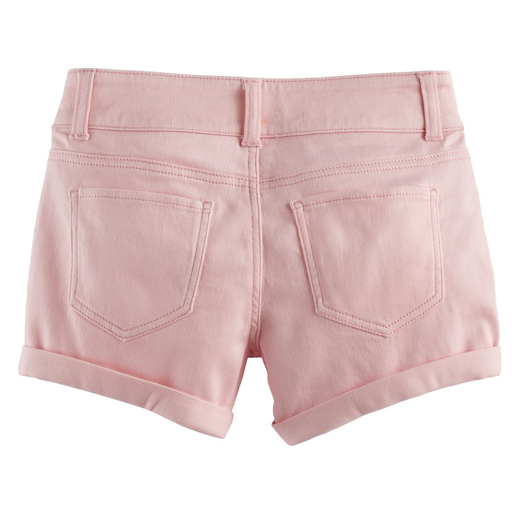 Girls 7-16 SO® Softest Shorties Double Button Shorts