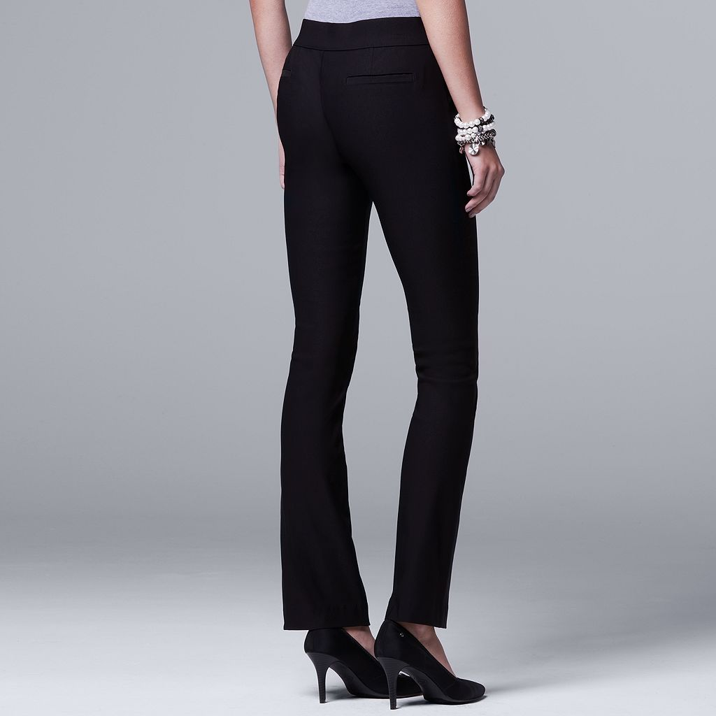 Women's Simply Vera Vera Wang Pull-On Bootcut Pants
