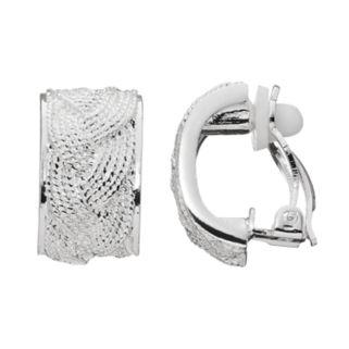 Dana Buchman Braided Texture Clip On Earrings
