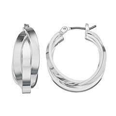 Dana Buchman Intertwined Triple Hoop Earrings