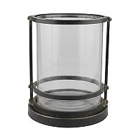 Stonebriar Collection Large Industrial Hurricane Candle Holder
