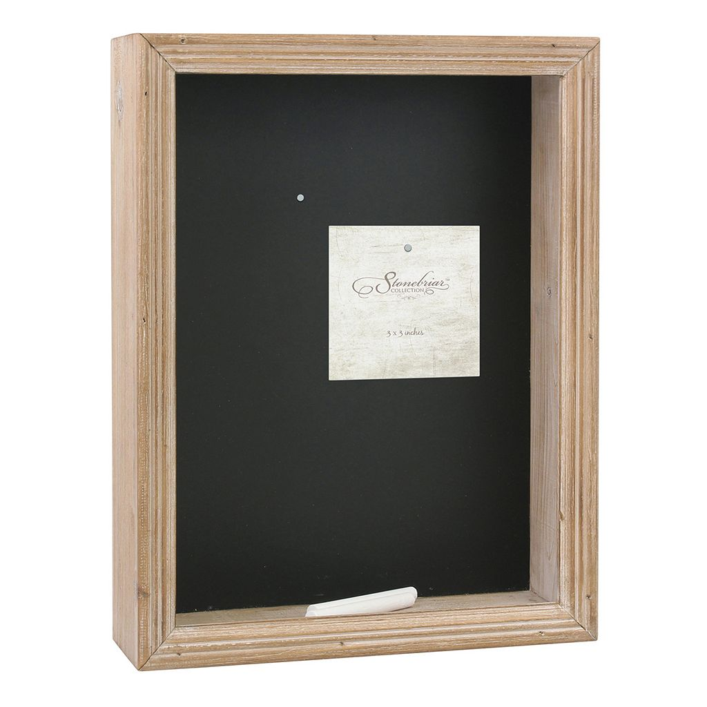 Stonebriar Collection Magnetic Chalkboard Shadowbox Table Decor