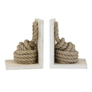 Stonebriar Collection Rope Knot Bookends 2-piece Set