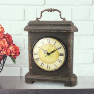 Stonebriar Collection Rustic Table Clock