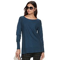 Women's ELLE™ Bow Accent Tunic Sweater