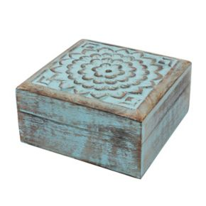 Stonebriar Collection Wood Box Table Decor