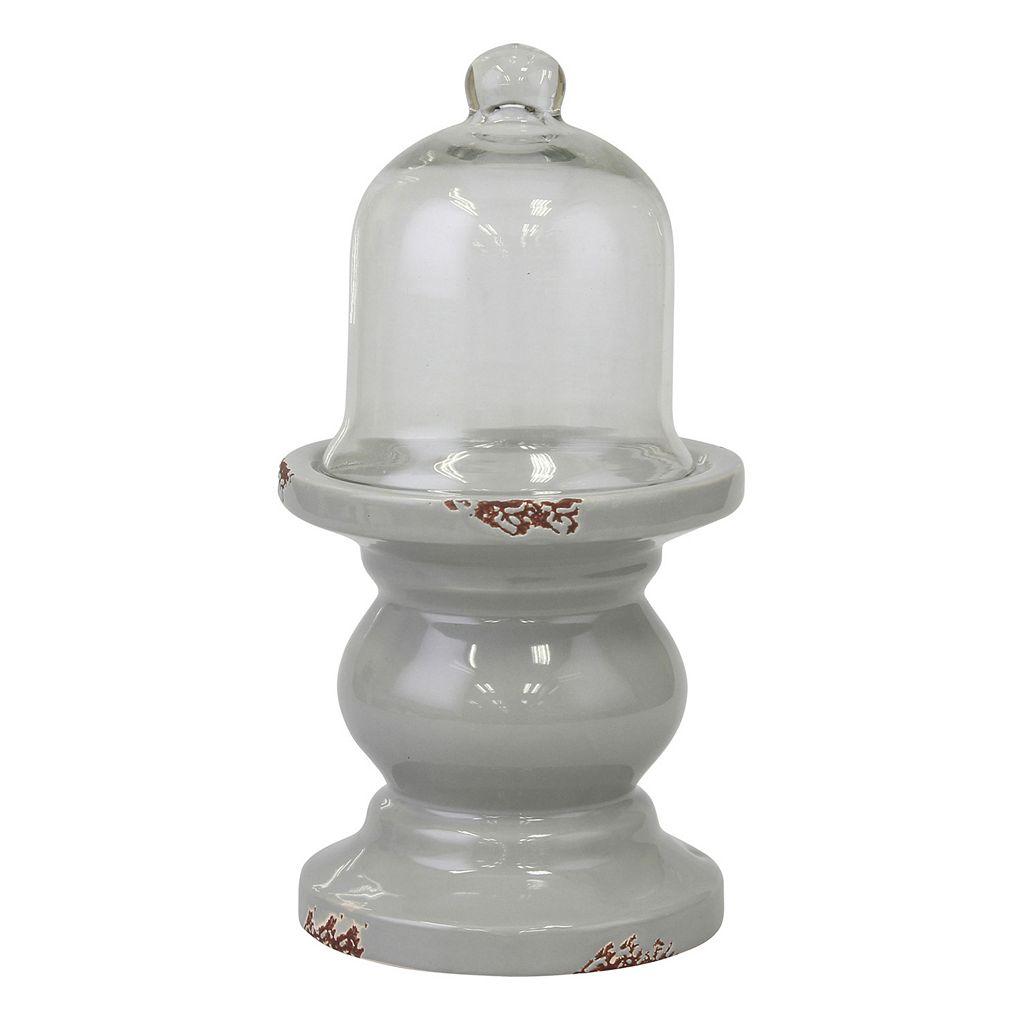 Stonebriar Collection Decorative Pedestal Cloche Table Decor