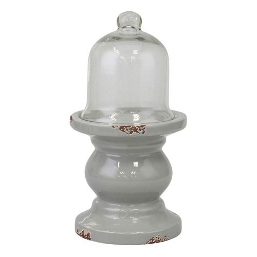 Stonebriar Collection Decorative Pedestal Cloche Table Decor