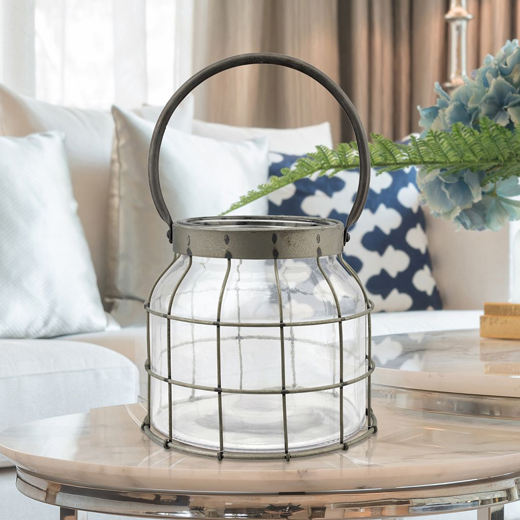 Stonebriar Collection Caged Lantern Table Decor