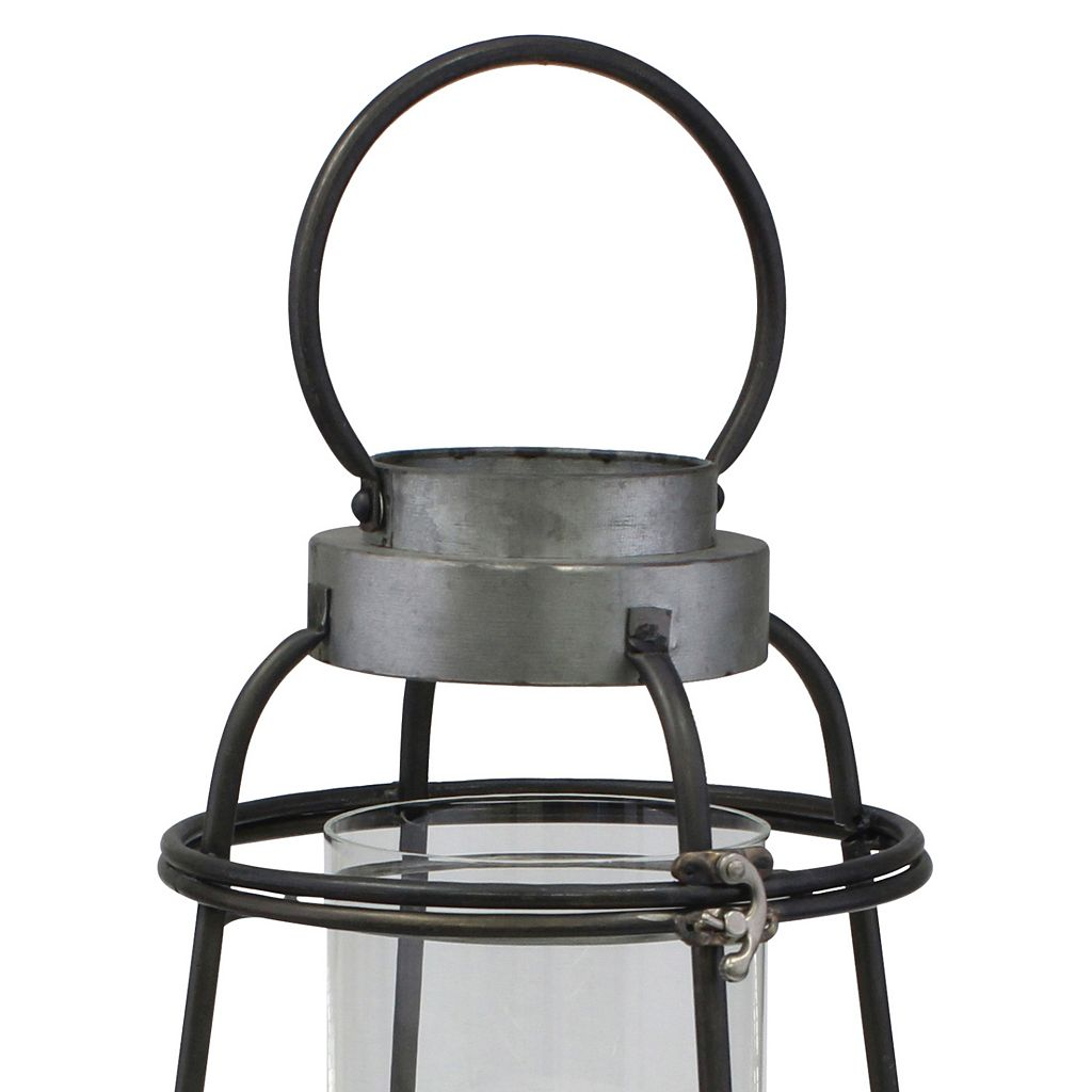 Stonebriar Collection Nautical Lantern Pillar Candle Holder