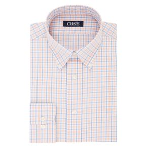 Men's Chaps Slim-Fit Plaid No-Iron Dress Shirt