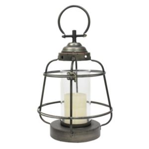 Stonebriar Collection Nautical Metal Lantern Pillar Candle Holder