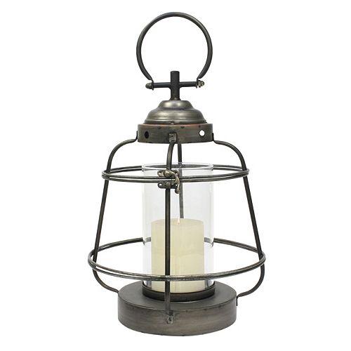 Stonebriar Collection Nautical Metal Lantern Pillar Candle Holder