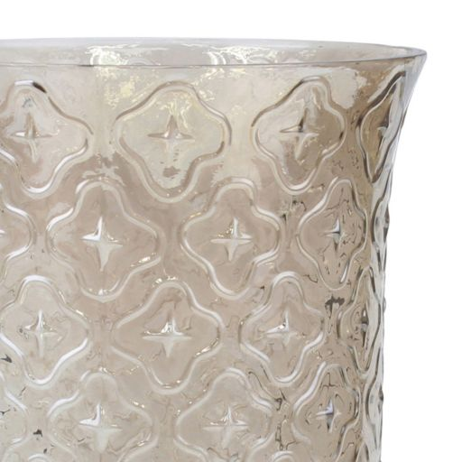 Stonebriar Collection Glass Hurricane Candle Holder
